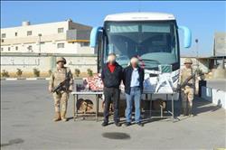 القبض على 3 تكفيريين وضبط أتوبيس يحتوي إمدادات للإرهابيين بسيناء |صور