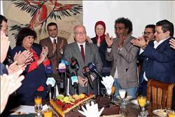 وزير الثقافة تكرم النمنم وتلتقي بقيادات الوزارة