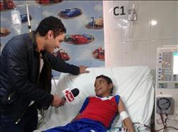 آسر ياسين يزور مستشفى أبو الريش للأطفال في «واحد من الناس»