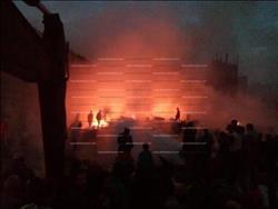 8 إصابات بحريق مصنع الكابلات بالهرم