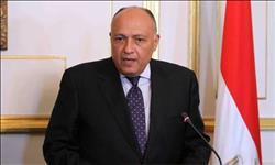 سامح شكري يتلقى اتصالاً هاتفياً من وزير الخارجية الفرنسي