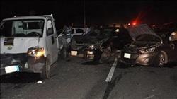 مصرع 7 أشخاص وإصابة 2 آخرين في حادث تصادم سيارات بالبحيرة