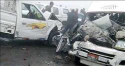 مصرع شخصين وإصابة ثلاثة آخرين في تصادم سيارتين بأسيوط