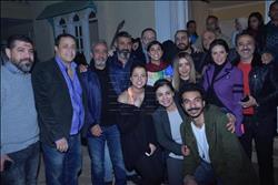 صور| ياسر جلال ونور ومحمد رياض يحتفلون ببدء تصوير «رحيم»