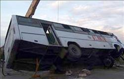 الصحة : إصابة 29 مواطناً في حادث انقلاب أتوبيس بمطروح