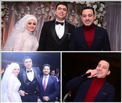 صور| مصطفى حجاج ودياب نجوم زفاف «أحمد وآية»