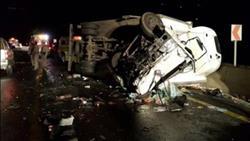 إصابة 11 شخصا في انقلاب ميكروباص بطريق «سيوة – الجارة»