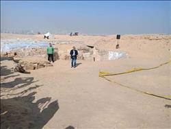 الصور الأولى للكشف الأثري الجديد بمنطقة آثار الأهرامات