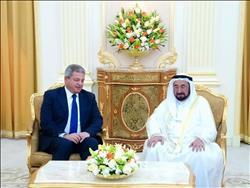 حاكم الشارقة يستقبل وزير الشباب والرياضة في ختام زيارته للإمارات