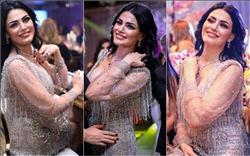الفنانة التونسية دارين حداد ترتدي فستانا بمليون جنية