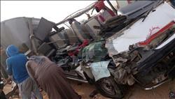 مصرع 3 وإصابة 6 في حادث تصادم أعلى وصلة دهشور بـ6 أكتوبر |صور