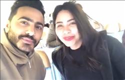 بالفيديو  تعرف على مفاجأة شيرين عبد الوهاب وتامر حسني للجمهور