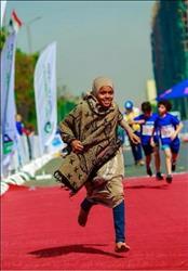 مروة «حافية القدمين» تحقق المركز الأول في ماراثون مجدي يعقوب  صور