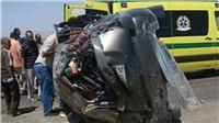 مصرع وإصابة 4 أشخاص في حادث بالطريق الدولي المحلة - كفر الشيخ