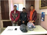 القبض على 3 طلاب حوزتهم 4.750 كيلو بانجو في البساتين
