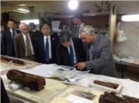 «رئيس الجايكا» يزور مشروع مركب خوفو