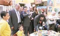 أسرة تحرير «الأخبار» تزور مستشفى ٥٧٣٥٧