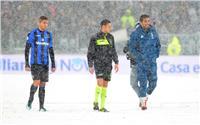 صور| تأجيل مباراة يوفنتوس وأتالانتا بسبب الثلوج