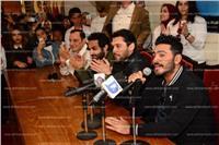 صور| تامر حسني وأحمد حسن وحازم إمام يشاركون في حملة التبرع بالدم
