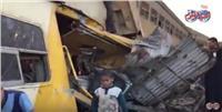 فيديو| مشاهد مأساوية من حادث قطاري البحيرة