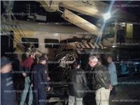 «السكة الحديد» تبدأ رفع آثار حادث تصادم قطاري البحيرة