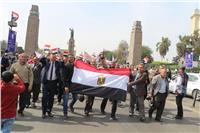 معلمو مصر يحتشدون على كوبري قصر النيل لتأييد «السيسي»