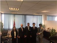 سفير اليابان ووفد الجايكا يتفقدان مشروع مبني الركاب الجديد بمطار برج العرب