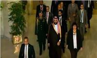 وزيرة الثقافة تصطحب «بن سلمان» للعرض المسرحي بالأوبرا
