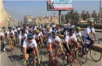 «دعم مصر» ينظم ماراثون بالدراجات في طنطا تأييدًا للسيسي