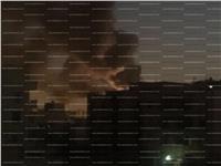 صور وفيديو| انفجار هائل في شركة كهرباء بالشيخ زايد