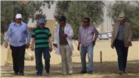 رئيس جامعة المنيا يتفقد أعمال الترميم بمنطقة «تونا الجبل»