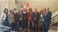 وزيرة الهجرة تلتقي الجالية المصرية بكنيسة مارمرقص الكندية