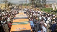 الآلاف يشيعون جنازة شهيد «سيناء 2018» بالدقهلية