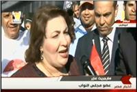 مارجريت عازر: المصريون بالخارج يعبرون عن فرحتهم بالانتخابات الرئاسية