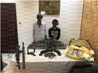 ضبط 60 طربة حشيش و أسلحة نارية بالإسكندرية