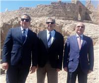 احتفالاً برفع علم مصر على أرض «طابا».. العناني يتفقد جزيرة فرعون| صور