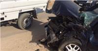 إصابة شخصين فى حادث تصام سيارة بصفط اللبن