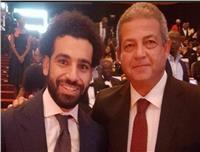 وزير الشباب يجتمع بـ«محمد صلاح» قبل مباراة البرتغال