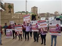 مسيرات حاشدة لدعم السيسي بمدن وقرى البحيرة