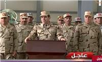 السيسي: نستخدم القوة ضد من يحمل السلاح لمواجهة المصريين