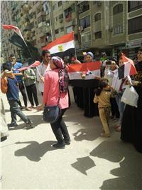 مصر تنتخب| «تحيا مصر» تشعل حماس الناخبين بمسيرة نسائية في شبرا