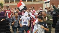 مصر تنتخب  مسيرة لشباب وفتيات شبرا الخيمة أمام لجنة الشهيد مصطفى لطفي