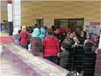 مصر تنتخب| بالصور..إقبال نسائي على المشاركة في الانتخابات بالمرج