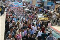 مسيرات حاشدة بشوارع وميادين المحلة الكبرى احتفالا بفوز السيسي