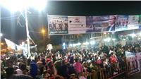 الآلاف من أبناء الفيوم يحتفلون بفوز «السيسي» بولاية ثانية