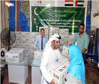 الإمارات توزع مئات الأطنان من المواد الغذائية بمنشأة ناصر