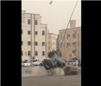 """بالفيديو.. حادث """"تفحيط"""" في عمان ينتهي بكارثة"""