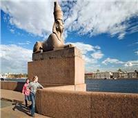 احتفاء روسي بالآثار الفرعونية فى يوم «أغلى مباراة»