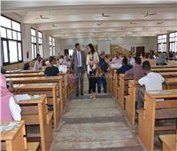 جولة تفقدية لنائب رئيس جامعة السادات لمتابعة سير الامتحانات
