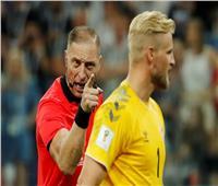 «كاسبر شمايكل» أفضل لاعب في مباراة كرواتيا والدنمارك